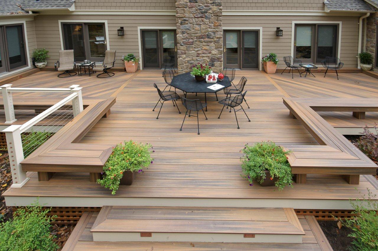 aménagement terrasse extérieur composite - veranda-styledevie.fr