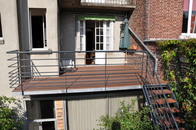 Terrasse Bois Avec Balcon Veranda Styledevie Fr