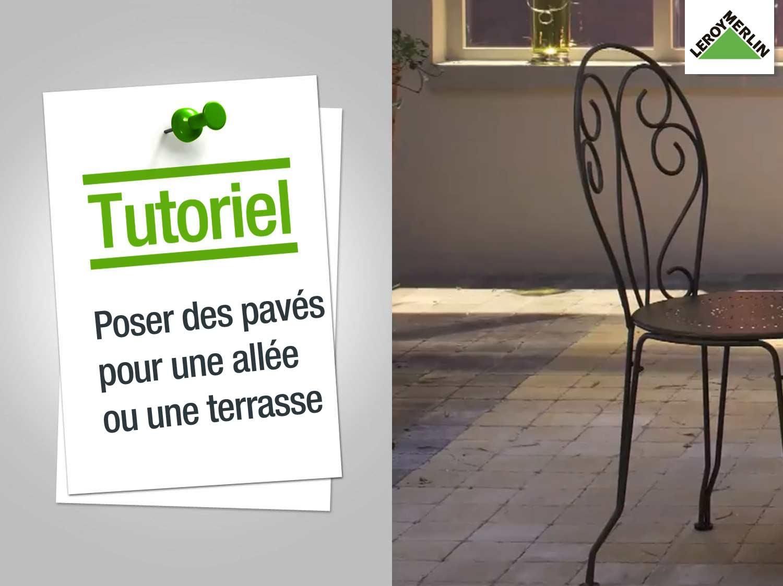 realiser une terrasse en pave autobloquant veranda. Black Bedroom Furniture Sets. Home Design Ideas