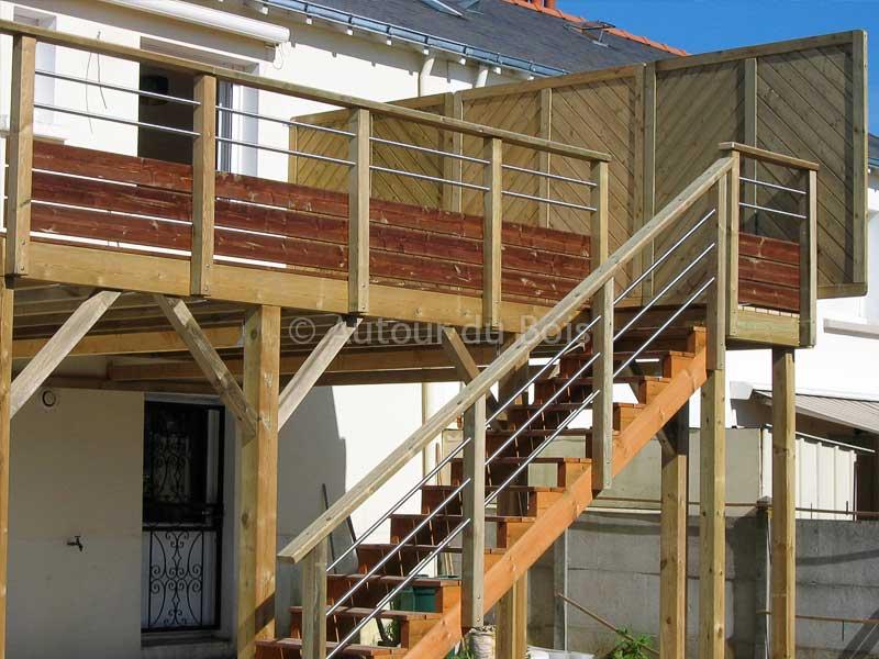 Construire Une Terrasse En Hauteur En Bois Veranda Styledevie Fr