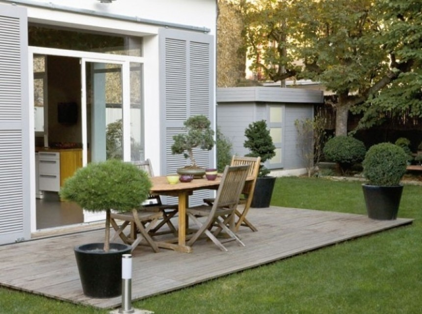 Terrasse exterieur deco veranda - Idee deco exterieur maison ...
