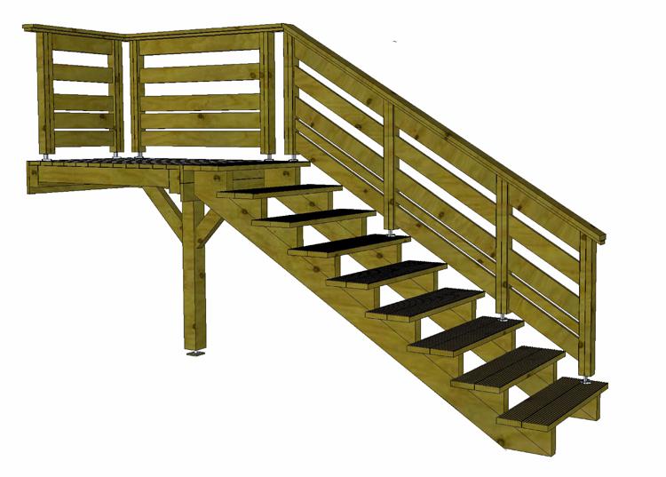 escalier terrasse bois prix veranda. Black Bedroom Furniture Sets. Home Design Ideas
