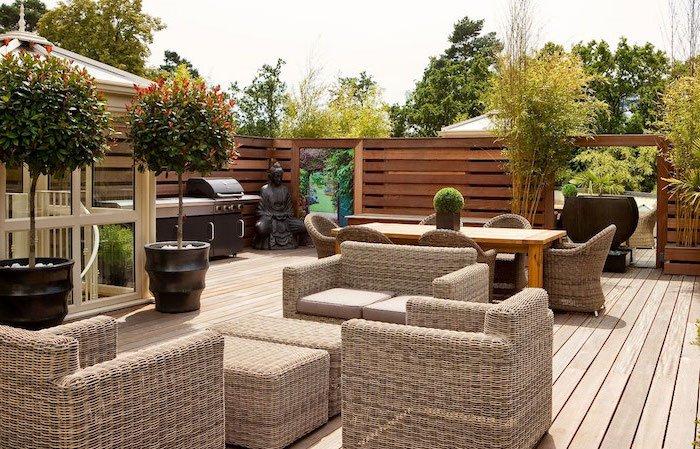 Terrasse zen bambou - veranda-styledevie.fr