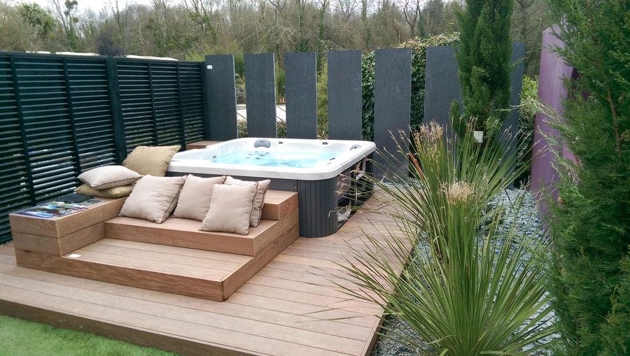 Terrasse En Bois Avec Jacuzzi Veranda Styledevie Fr