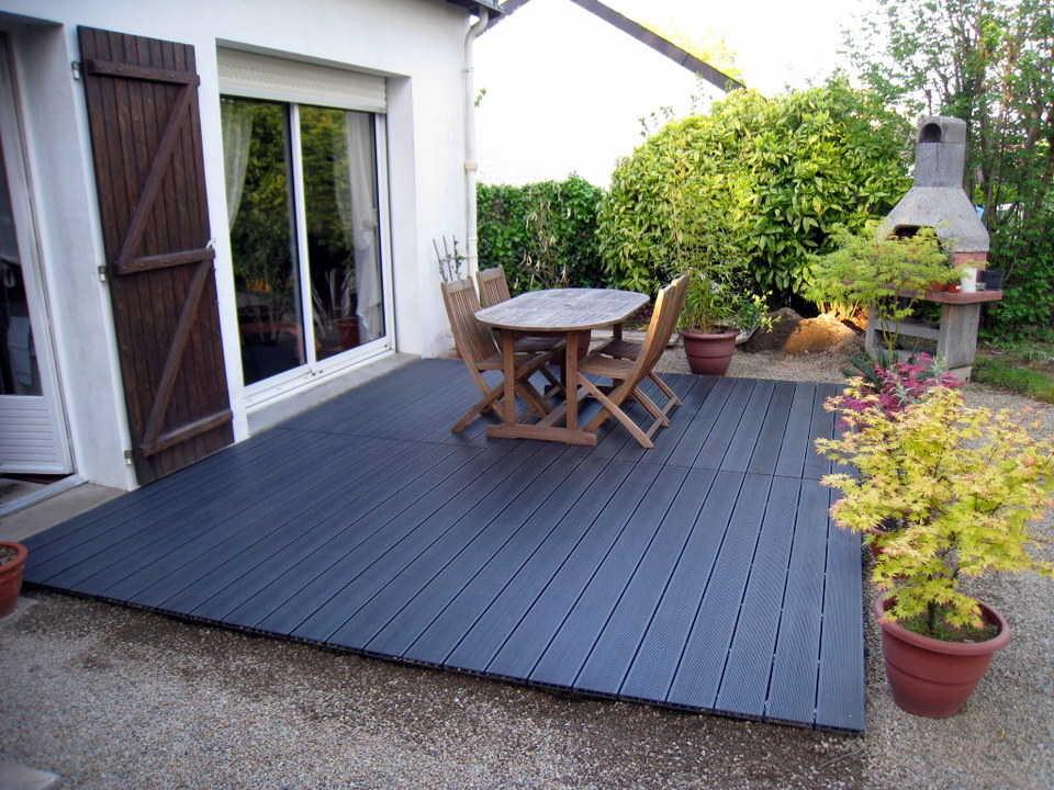 terrasse composite gris anthracite pas cher veranda. Black Bedroom Furniture Sets. Home Design Ideas