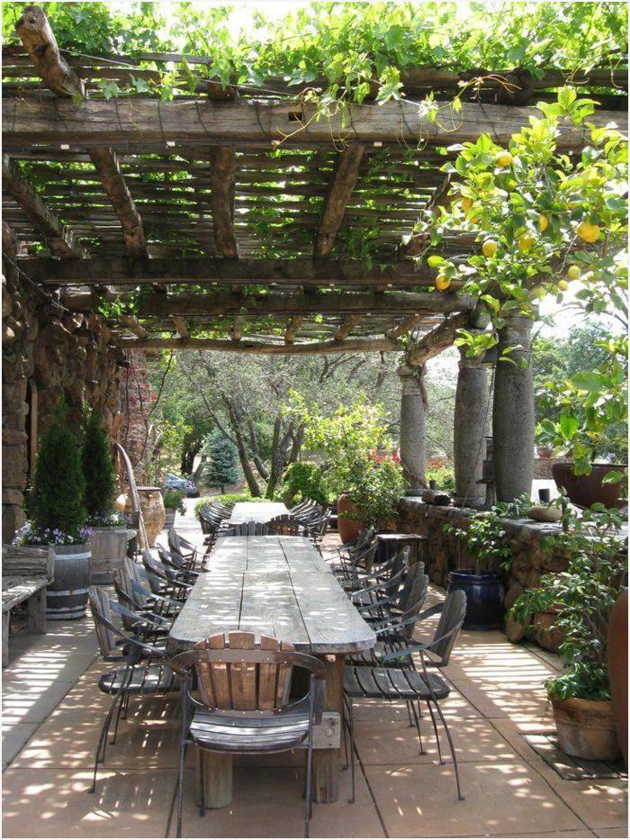 Terrasse de jardin pinterest - veranda-styledevie.fr