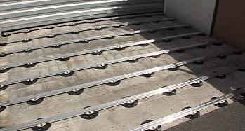 terrasse en bois composite sur dalle beton veranda. Black Bedroom Furniture Sets. Home Design Ideas