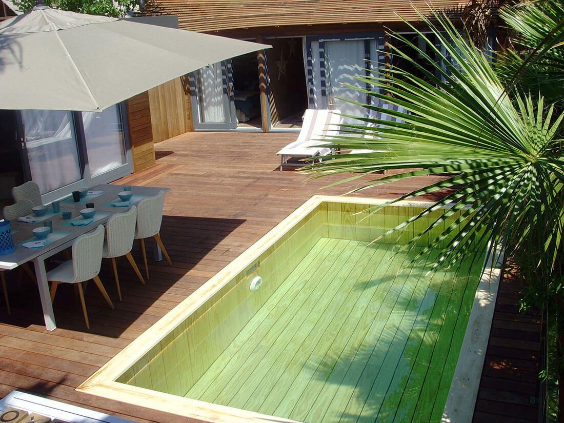 terrasse exterieur avec piscine veranda. Black Bedroom Furniture Sets. Home Design Ideas