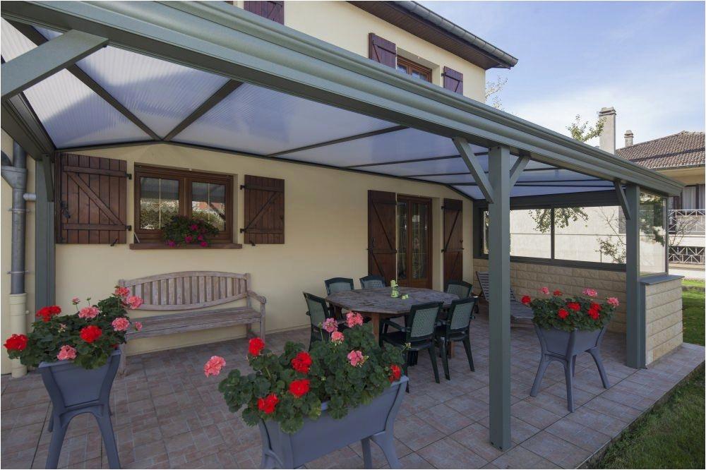 Auvent terrasse fer forgé - veranda-styledevie.fr