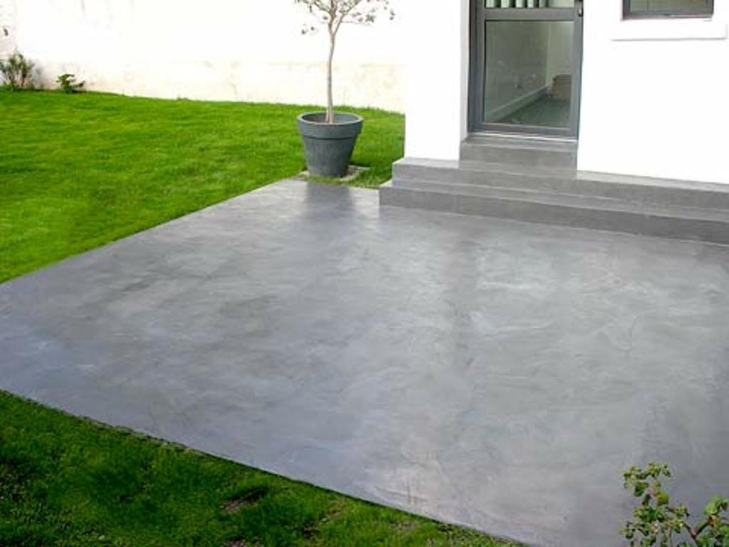 peindre une terrasse en pierre veranda. Black Bedroom Furniture Sets. Home Design Ideas