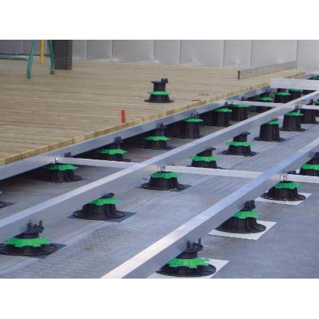 Terrasse bois sur plot plastique