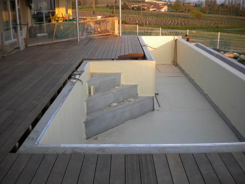 terrasse en bois sur beton veranda. Black Bedroom Furniture Sets. Home Design Ideas