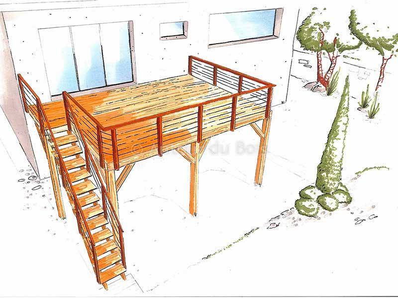 Kit de terrasse bois 20m2