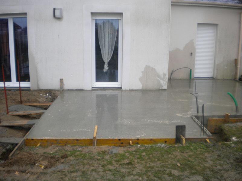 faire terrasse beton soi meme veranda. Black Bedroom Furniture Sets. Home Design Ideas
