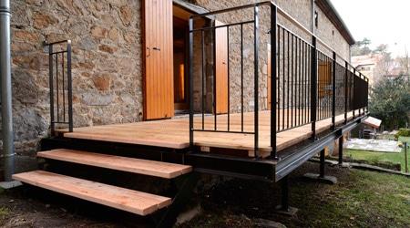 terrasse en beton sur pilotis veranda. Black Bedroom Furniture Sets. Home Design Ideas