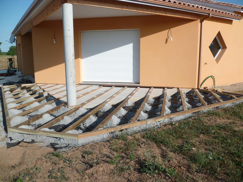 faire une terrasse en beton soi meme veranda. Black Bedroom Furniture Sets. Home Design Ideas