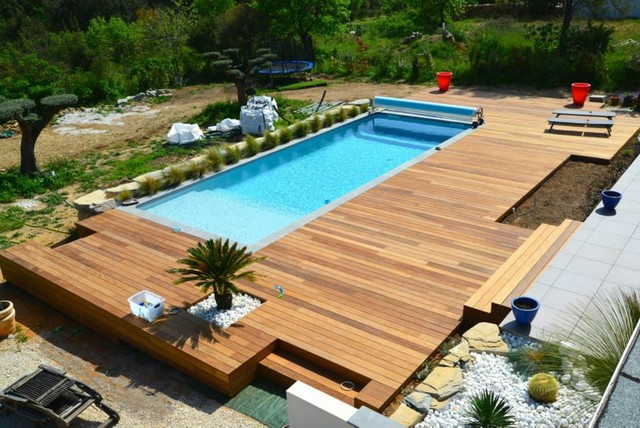 idee terrasse bois piscine veranda. Black Bedroom Furniture Sets. Home Design Ideas