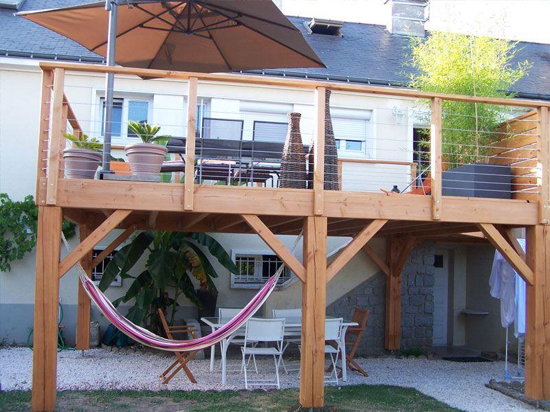 Kit terrasse bois suspendue