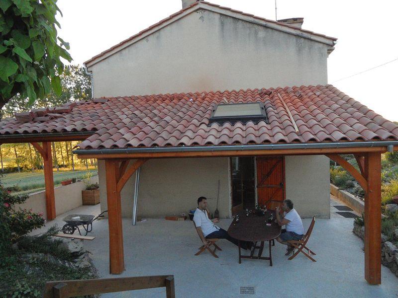 Terrasse couverte tuile - veranda-styledevie.fr