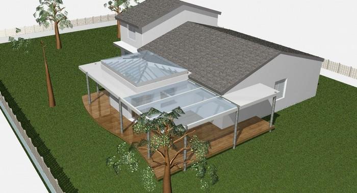 Terrasse couverte moderne - veranda-styledevie.fr