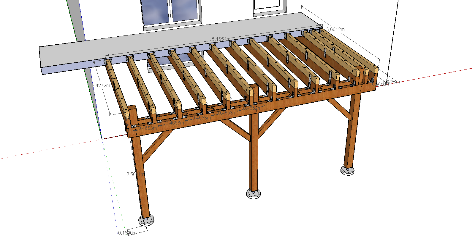 terrasse bois suspendue prix veranda. Black Bedroom Furniture Sets. Home Design Ideas