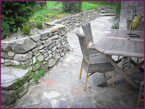 Jardin terrasse pierre naturelle - veranda-styledevie.fr
