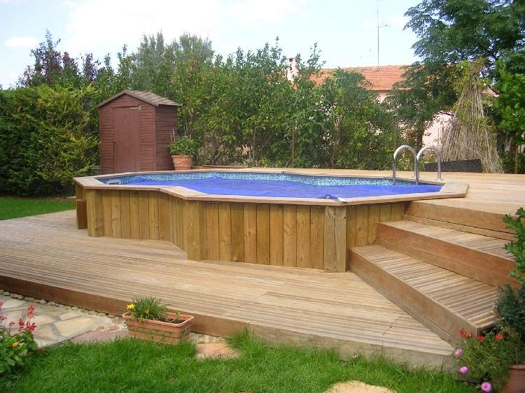 Terrasse d co bois concept piscines et abords saint hilaire du rosier veranda - Deco de terrasse en bois ...
