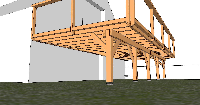 Terrasse Suspendue En Bois Kit Veranda Styledevie Fr