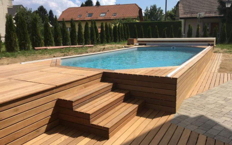 faire terrasse piscine bois veranda. Black Bedroom Furniture Sets. Home Design Ideas